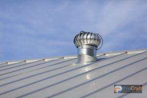 Steel Roofing System with Fan