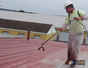 Restorative Coating on Metal Roofing