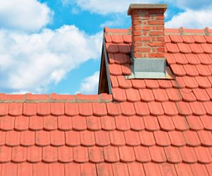 Slightly Dirty Clay Roof Tiles