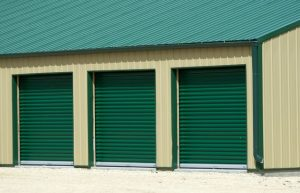 Storage Area With a Green Snap Lock Metal Roof