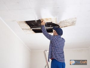 Examining Water Damage to Ceiling