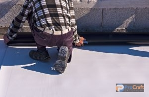 Unrolling Rubber Roofing